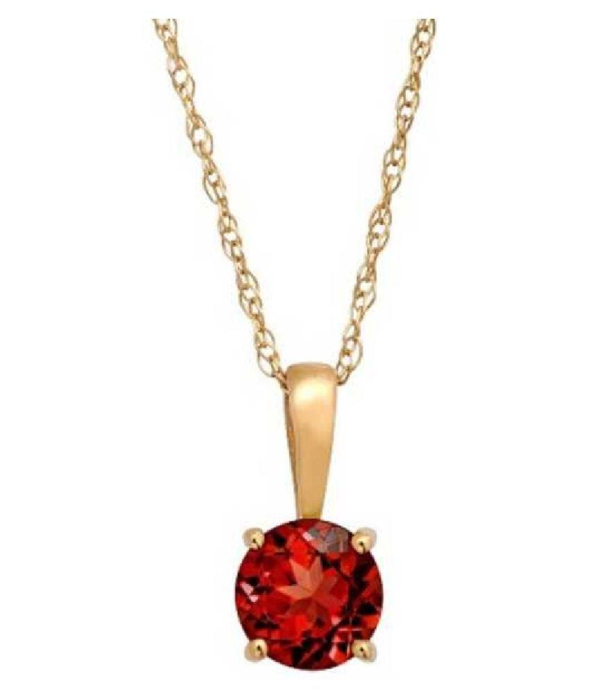 Natural Lab Certified 7.5 carat 100% Original Hessonite (Gomed)  Pendant for unisex by Ratan Bazaar\n