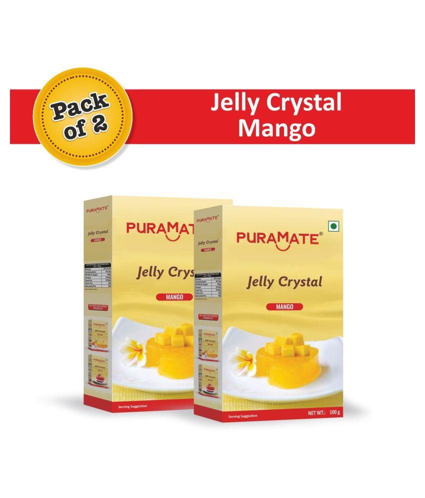 Puramate Mango Jelly Crystal, 100 g Pack of 6