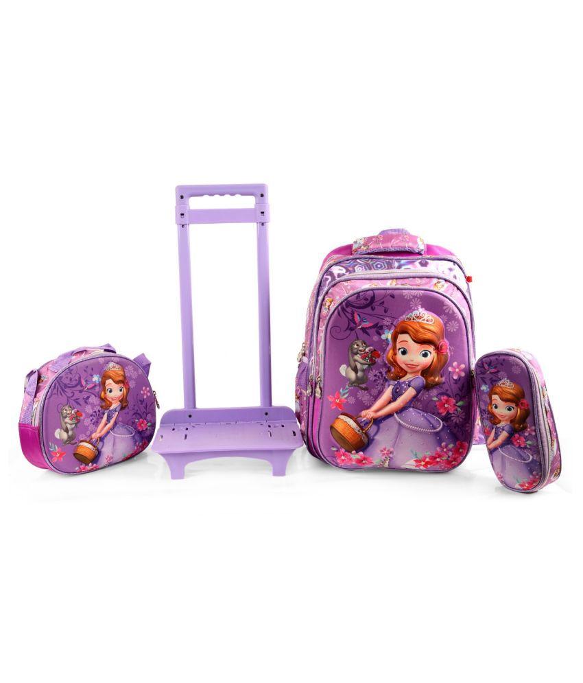 Disney Purple Fabric College Bag