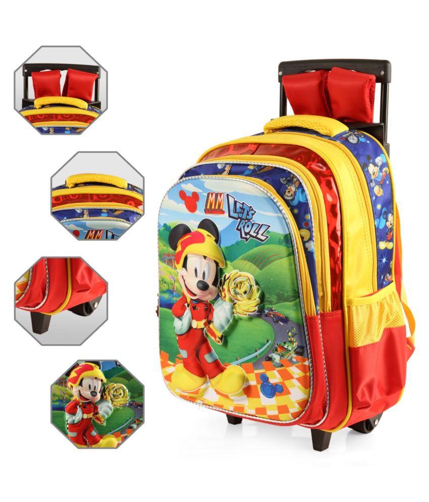 Disney Red Fabric College Bag