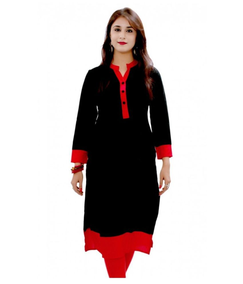 Gupta Sons Multicoloured Rayon A-line Kurti