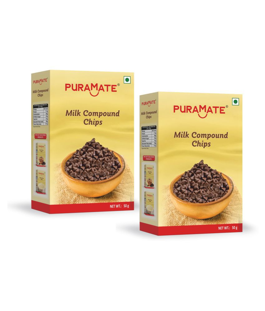 Puramate Milk Compound Chips, 50 g Pack of 4