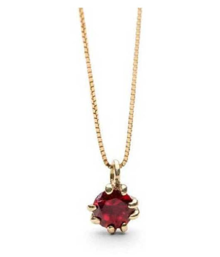 9.5 ratti Natural Lab certified Stone Gold Plated Hessonite (Gomed)  Pendant by  KUNDLI GEMS\n