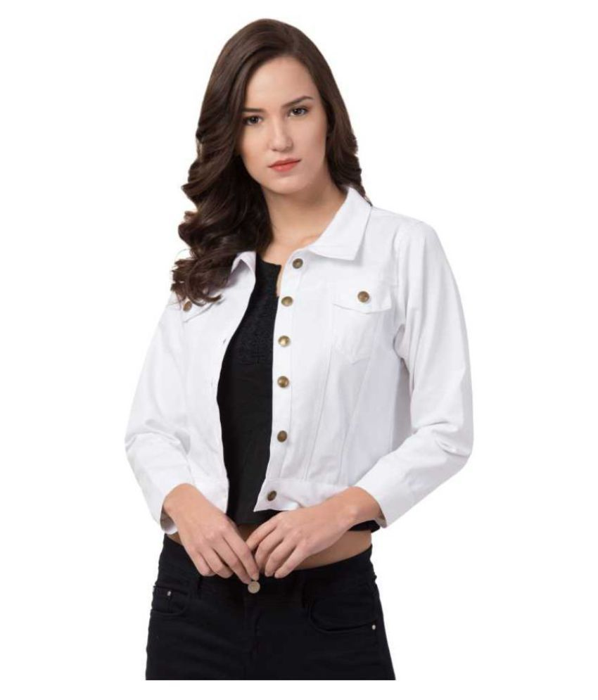 Dress Universal Cotton Blend White Jackets