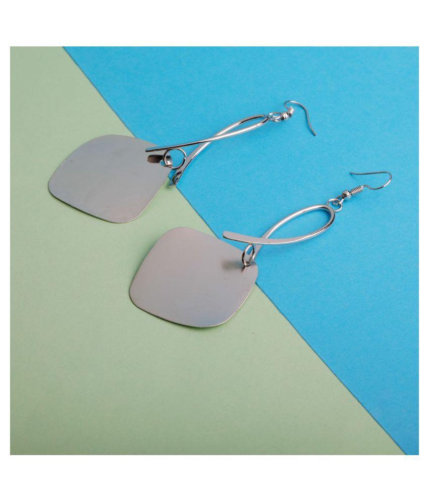 SILVER SHINE  Handicraft Silver Eye-Catching Drop Earring For Girls And Women