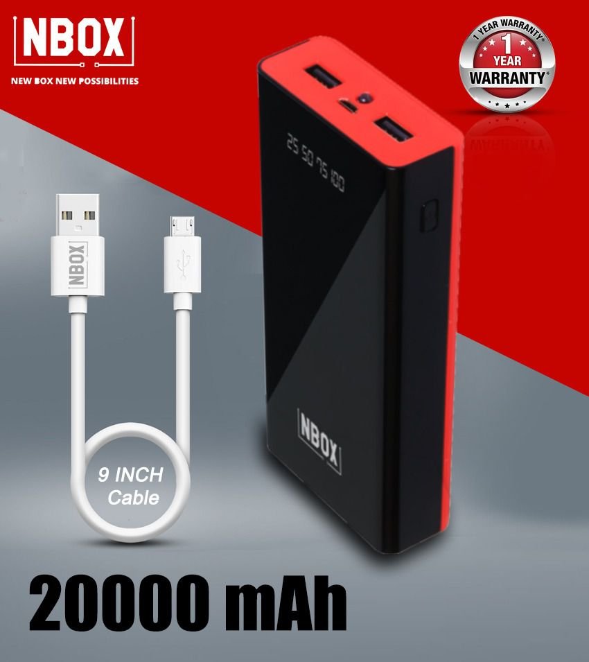 NBOX T100 20000 -mAh Li-Polymer Power Bank Red