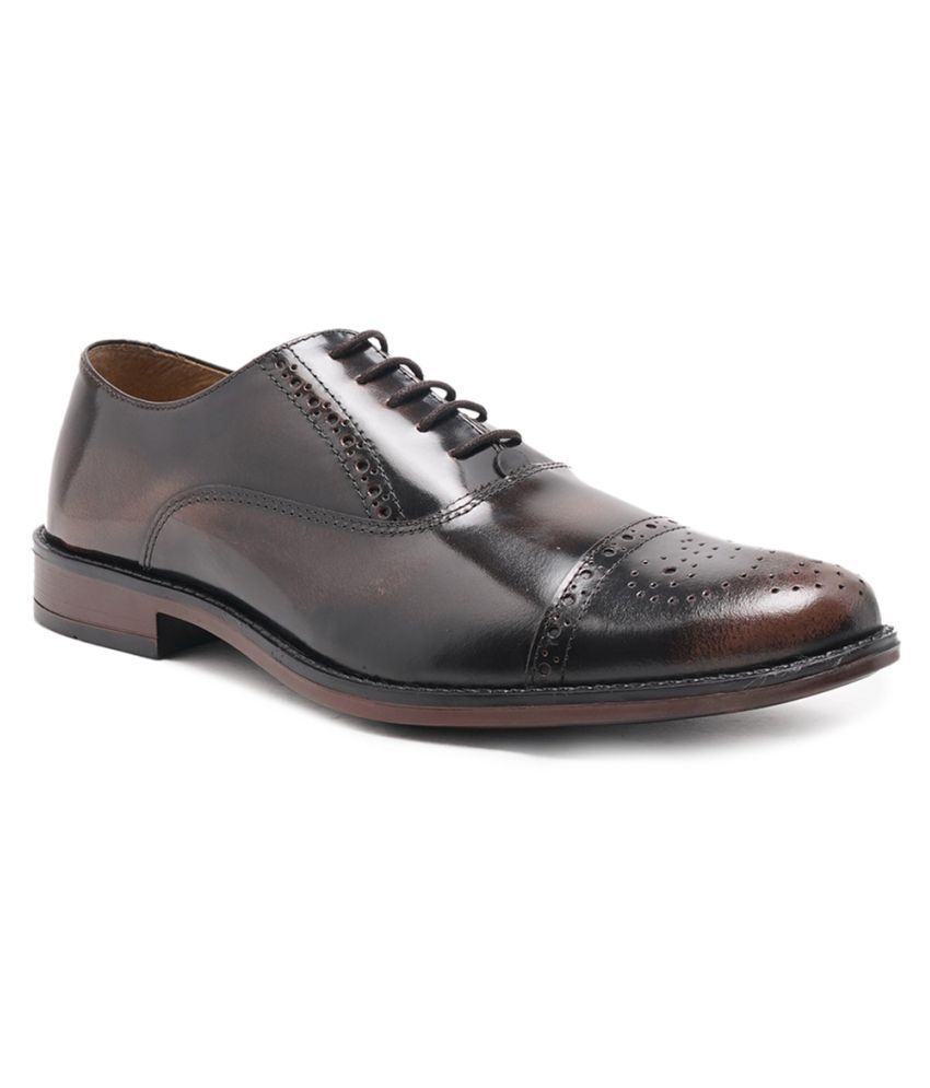 NOBLE CURVE Oxfords Genuine Leather Brown Formal Shoes