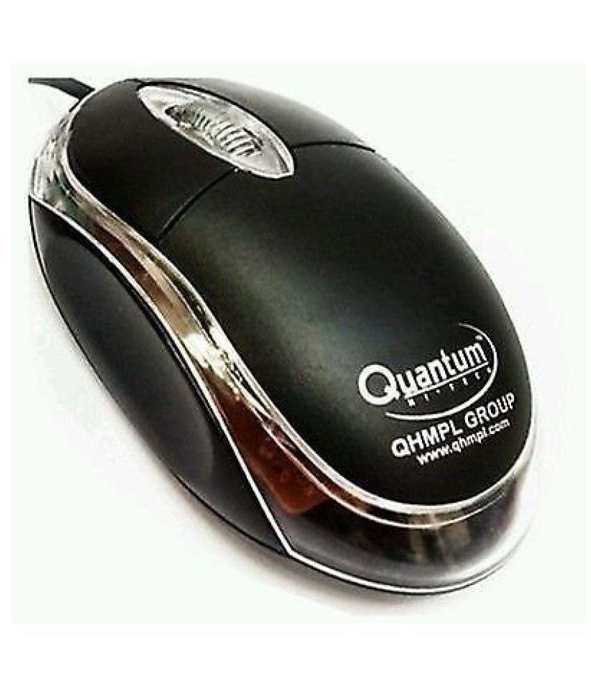 Quantam QHM222 Black USB Wired Mouse
