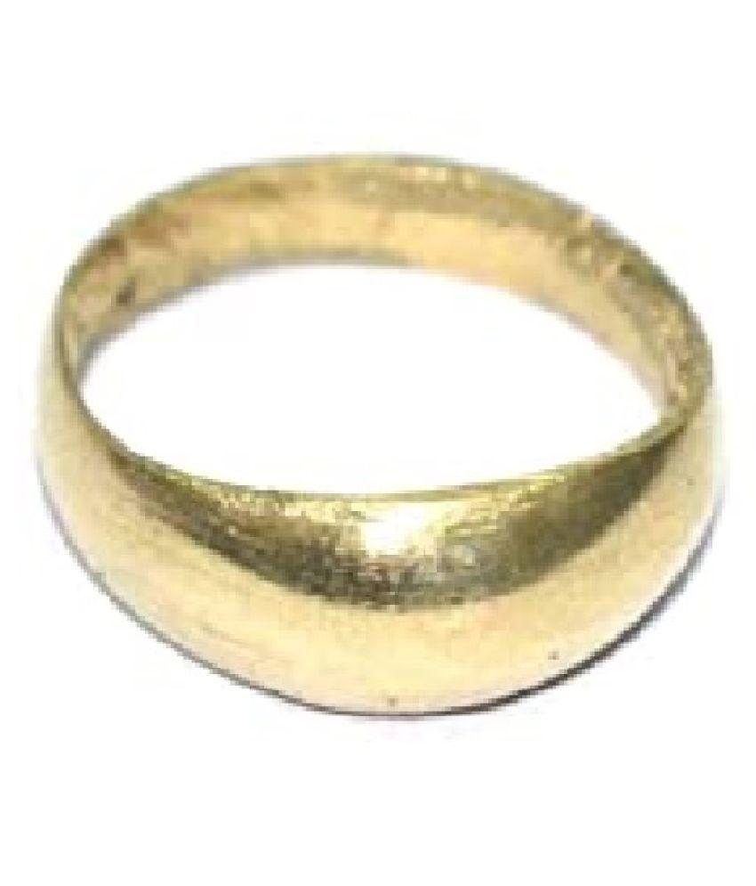 Ratan Bazaar - Gold Plated Simple Sober challa Band Design Free Size Fashion Finger Ring Women & Men
