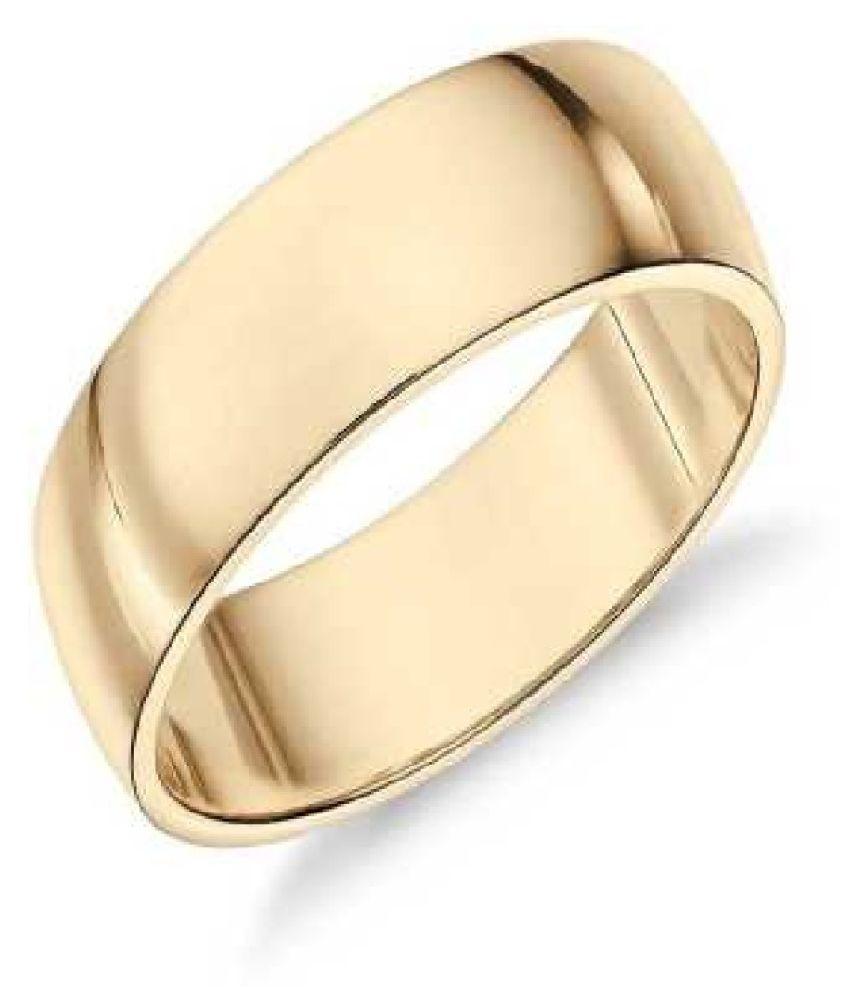 Ratan Bazaar -  Gold Plated, challa, Fashion Finger Ring Men Women Gold Plated  Ring