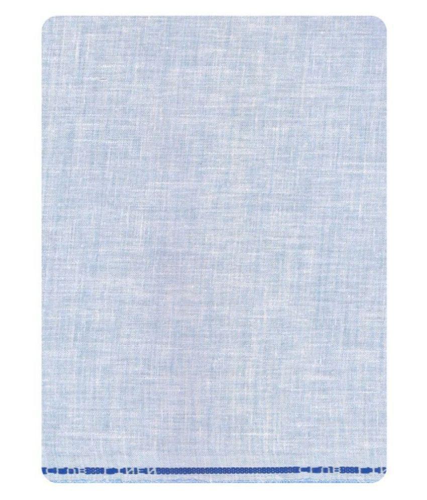 John Phillipe Blue Linen Blended Unstitched Shirt pc