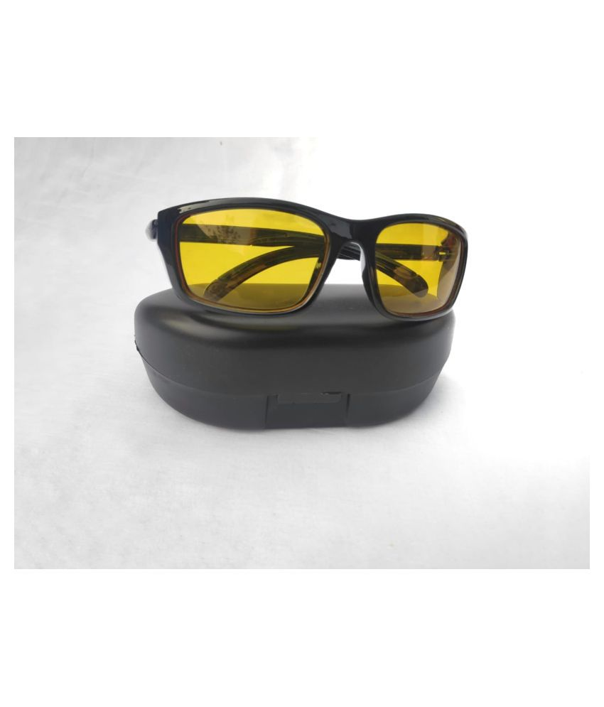 Night Drive Best Quality Vision Glasses In Best Price For Bike/Car/Motorcycle-- Set of 1 Pcs(FreeSize)
