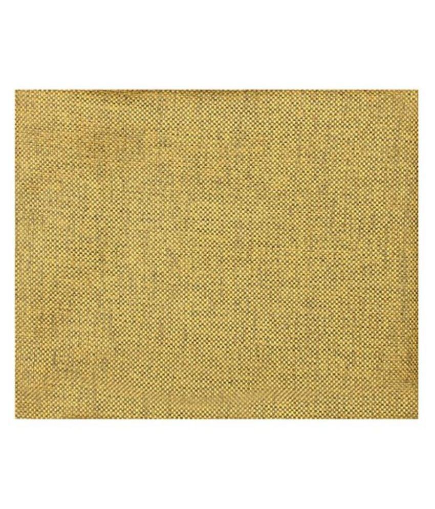 Dearman Gwalior Suitings Yellow Cotton Blend Unstitched Pant Pc