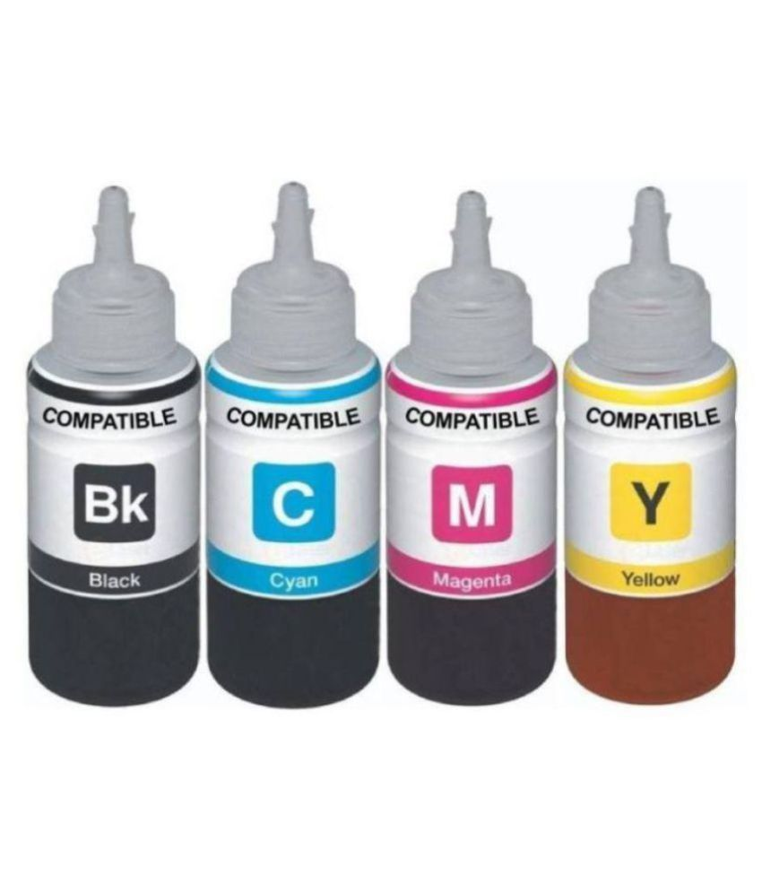 Kataria Refill Ink Multicolor Pack of 4 Ink bottle for Epson L380 Multi Function Printer