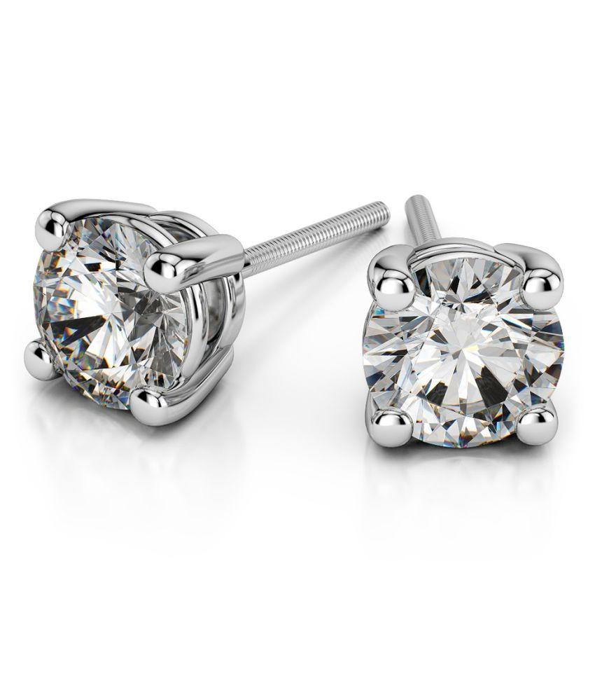Silver American Diamond Earring  Beautiful Indo-Western Ethnic Fashion Jewellery for Girls and Women by Ratan Bazaar