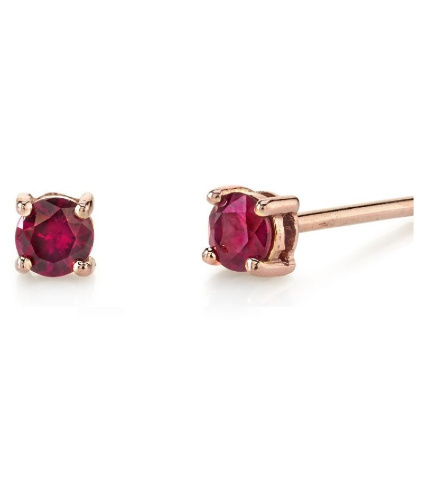 Gold Plated Ruby(Manik) Earring  Beautiful Indo-Western Ethnic Fashion Jewellery for Girls and Women by Ratan Bazaar