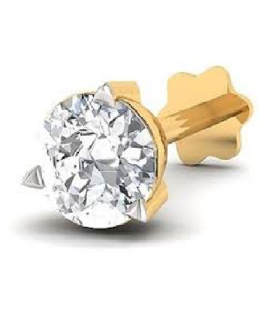 Kundli Gems - American Diamond Stone Nose pin Original & Certified Gemstone Diamond nosepin for Women & Girl