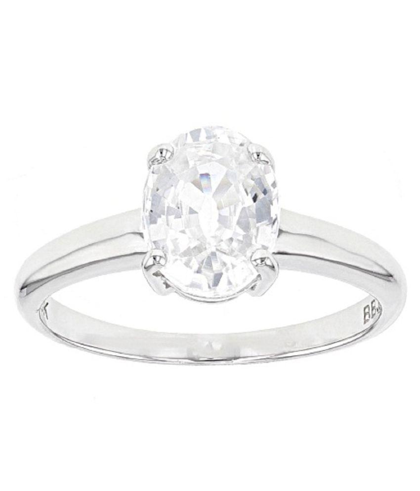 5.5 carat pure ZIRCON  silver Ring by RATAN BAZAAR \n
