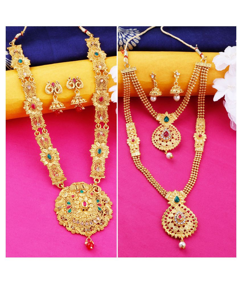 N M CREATION Alloy Golden Contemporary Traditional Gold Plated
