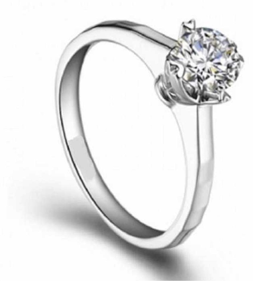 Natural White Sapphire 5.25 Carat silver Ring  by  KUNDLI GEMS\n