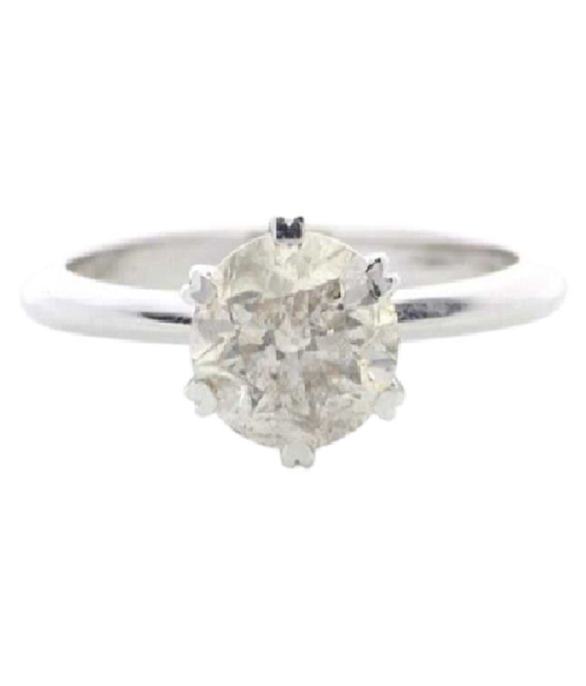 7 Ratti White Sapphire Ring Natural Stone Silver Ring by KUNDLI GEMS