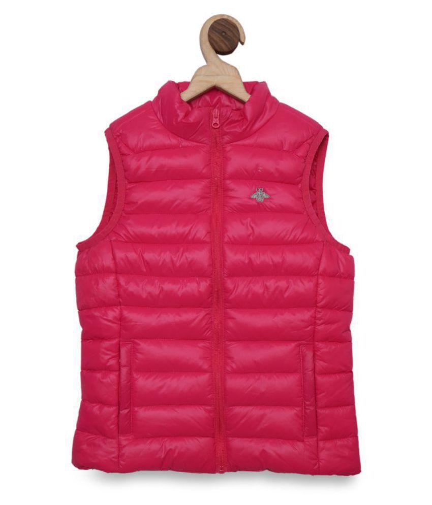 Mode By Red Tape Girls Dark Pink Jacket