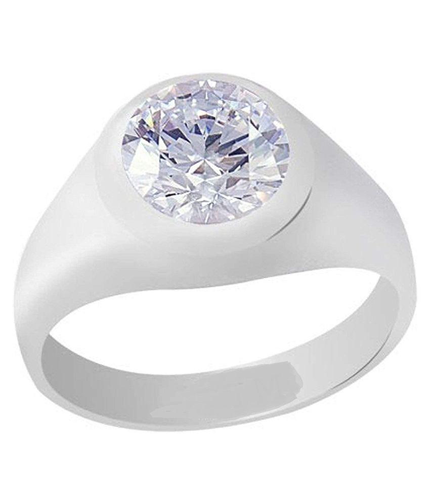 Natural 8.5 carat ZIRCON  Silver Ring by  RATAN BAZAAR\n