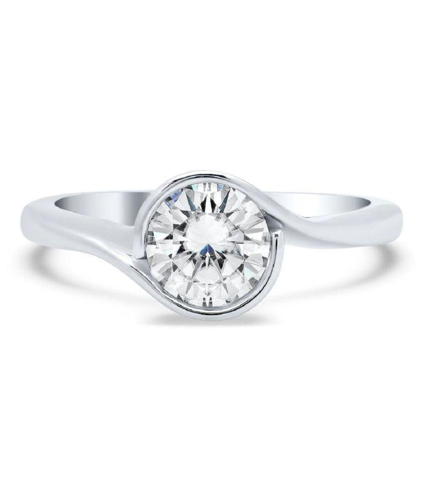 5 Ratti Silver Original White Sapphire Ring Lab Certified Stone by Ratan Bazaar\n