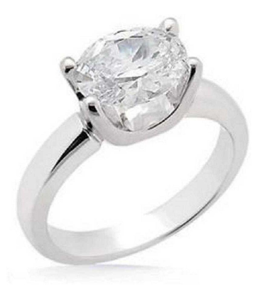 7 ratti Silver  ZIRCON  Ring for unisex by  KUNDLI GEMS\n