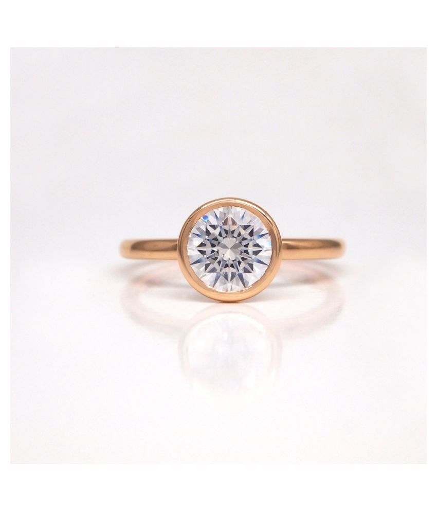 8 Ratti White Sapphire Gold Plated Ring for Unisex by Ratan Bazaar\n