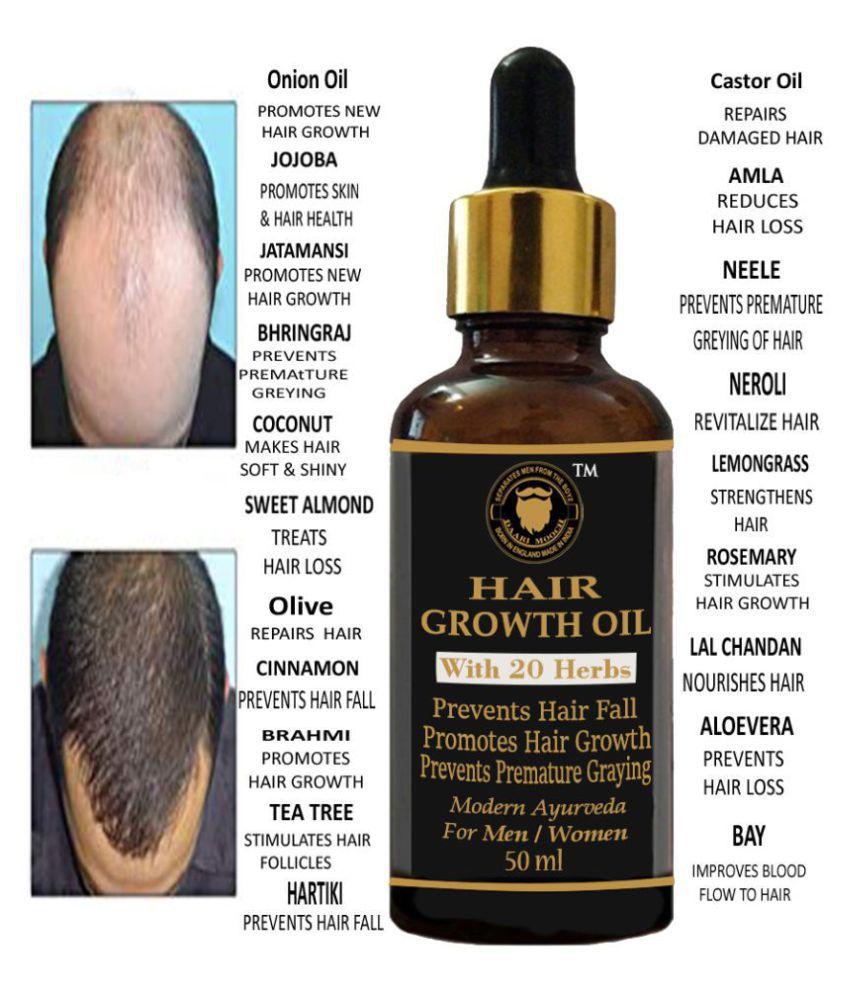 DAARIMOOCH Ayurvedic Oil For Hair Growth & Hair Fall Control Oil 50 mL Fliptop Glass Container