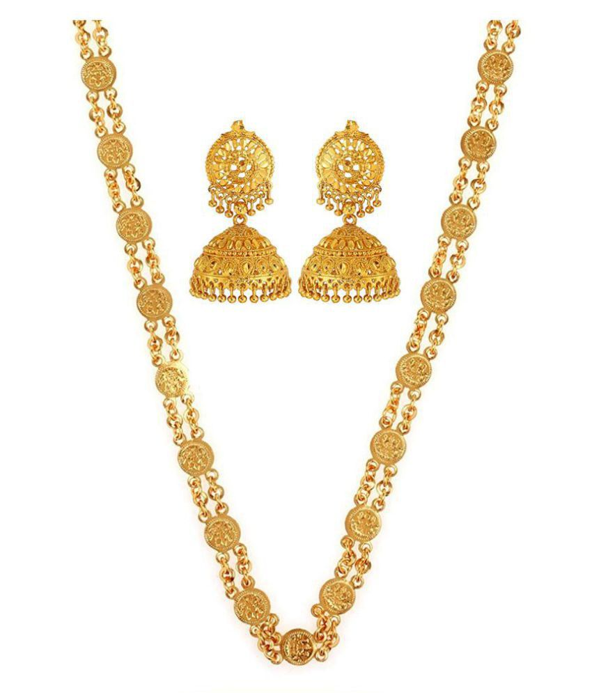GoldNera GoldPlated Ginni Chain with Earring Set