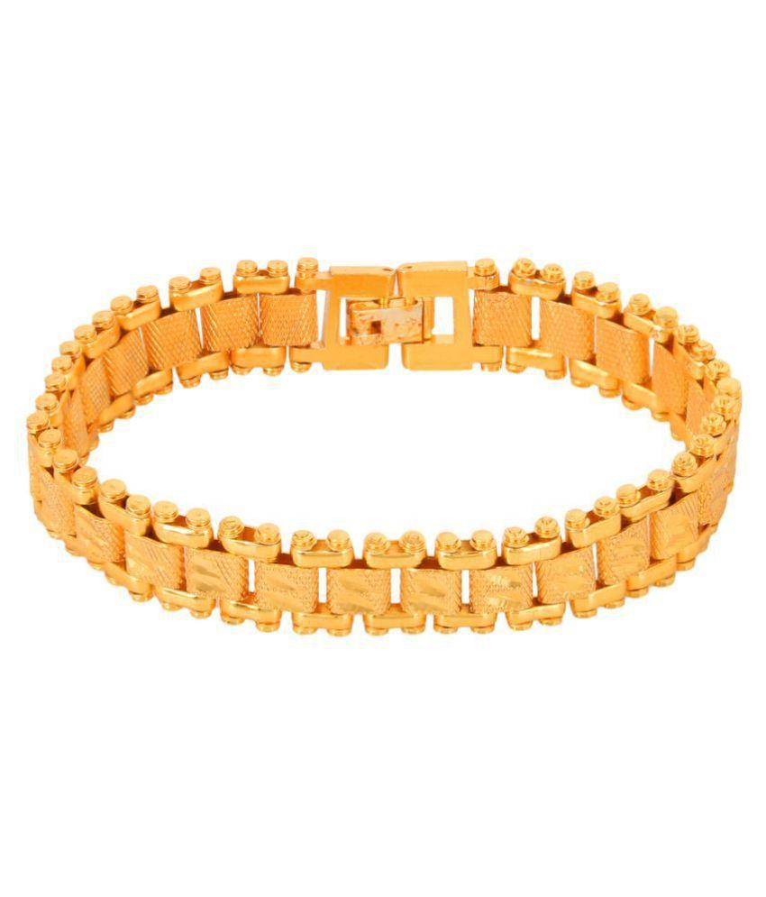 GoldNera GoldPlated Party Wear Men Bracelet.