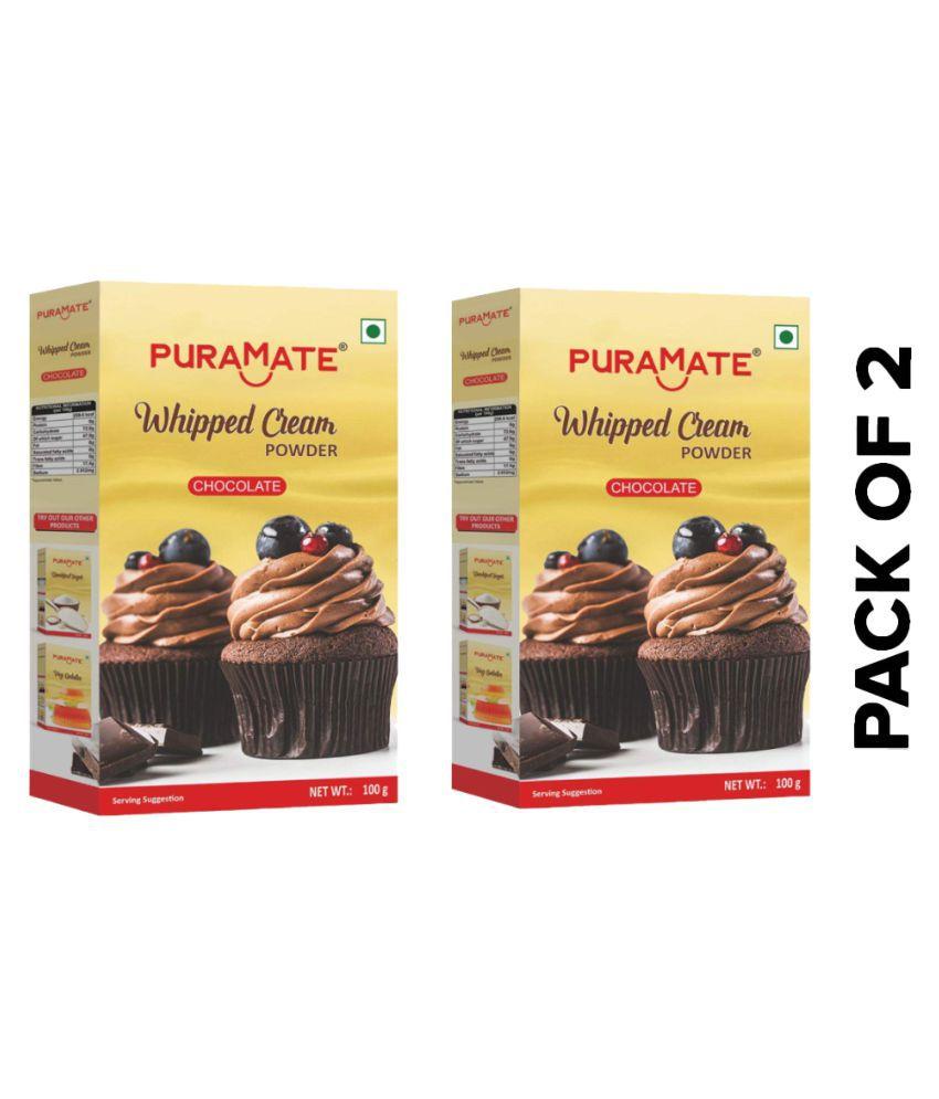 Puramate chocolate whipping cream Powder 100 g Pack of 2