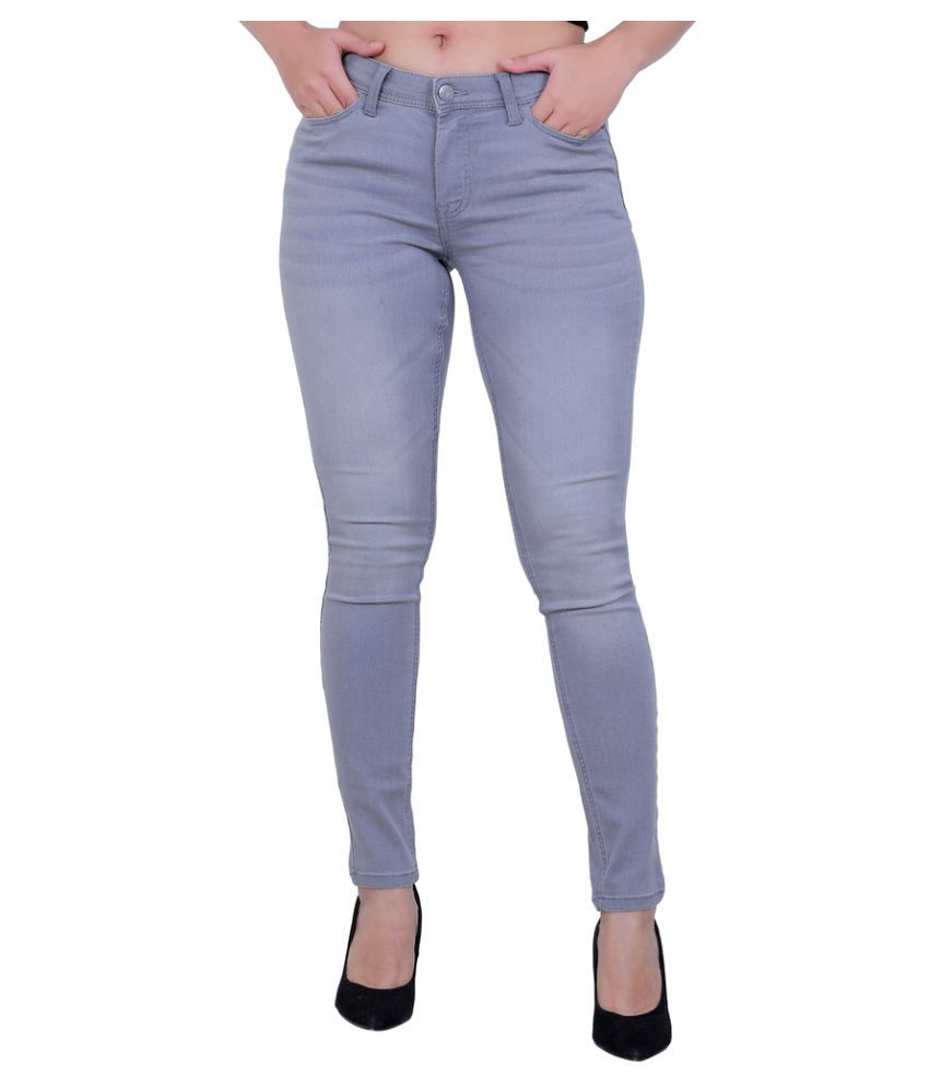 Sisney Cotton Lycra Jeans - Grey