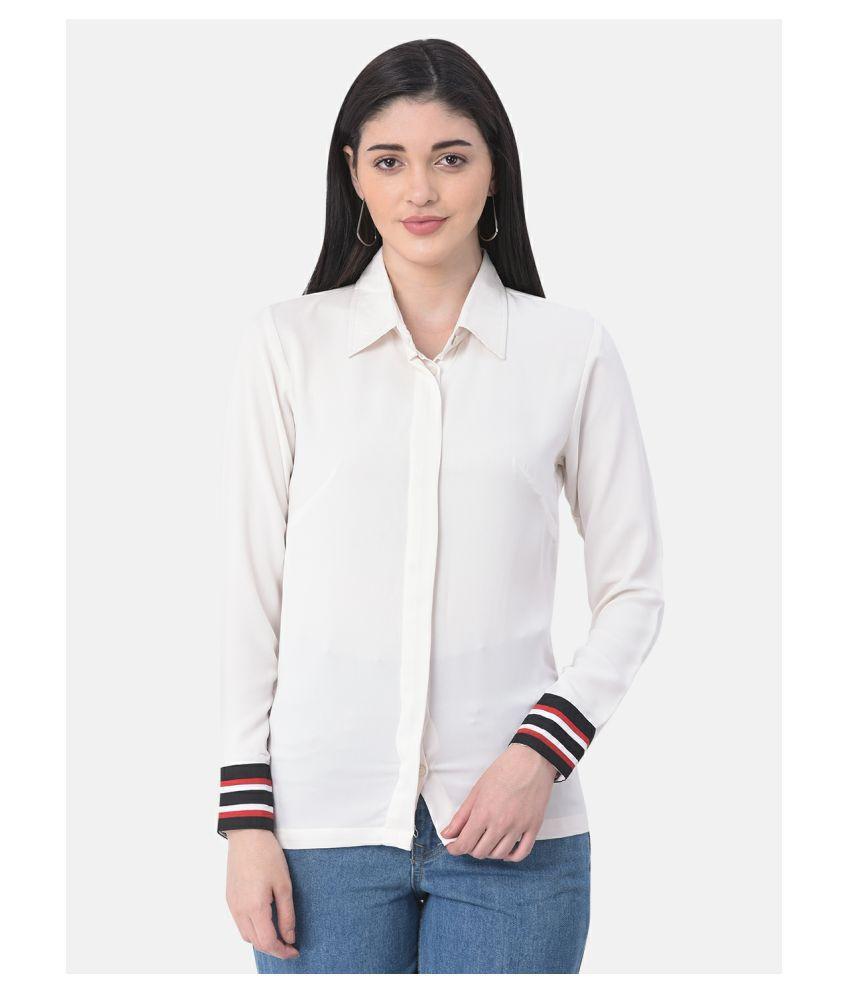 Thrill Off White Georgette Shirt