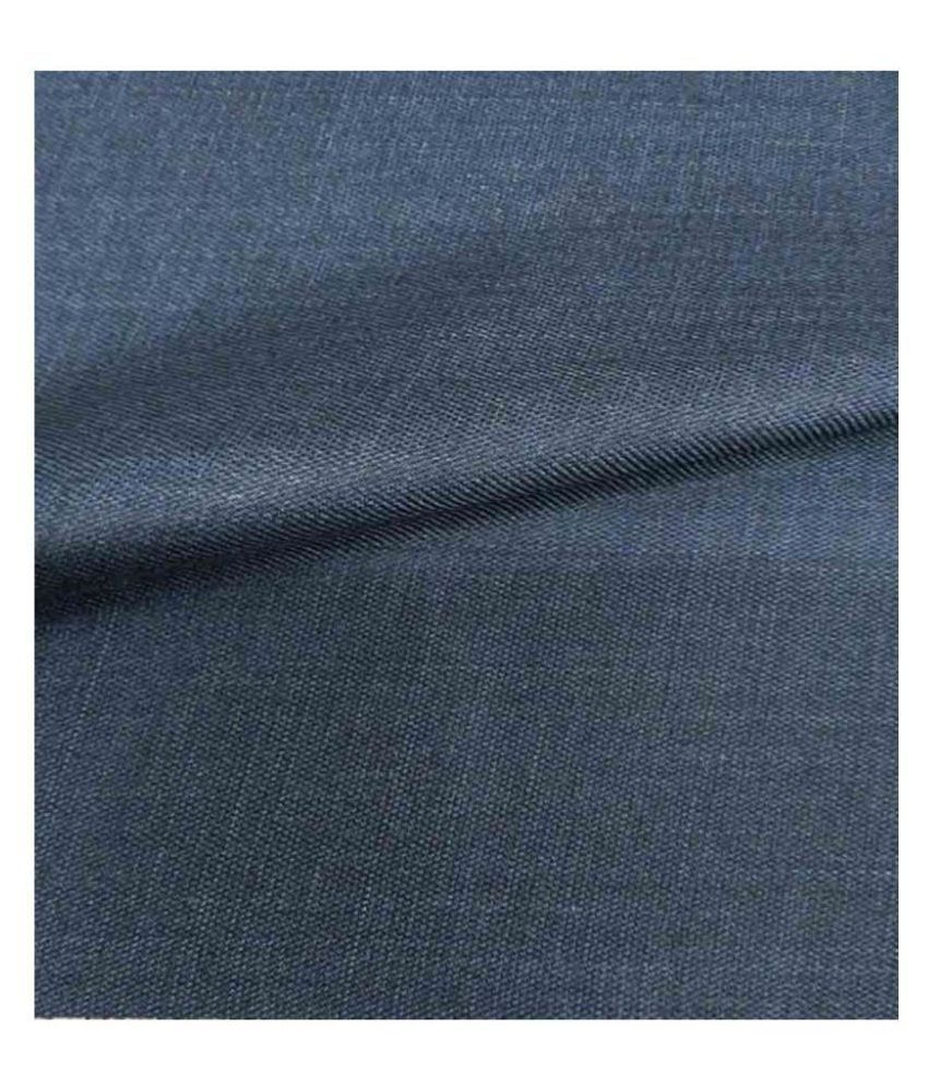 Makhanchor Blue Poly Viscose Unstitched Pant Pc Single