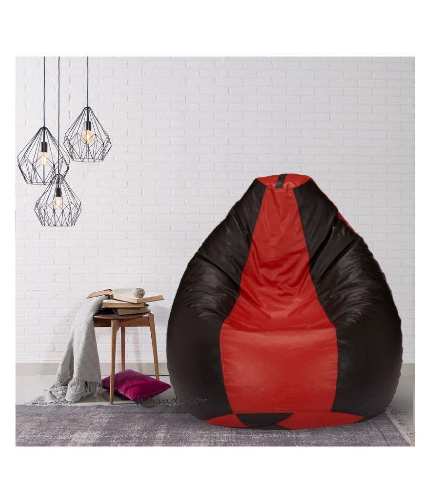 Red amp;Black Bean Bag Cover XXXL