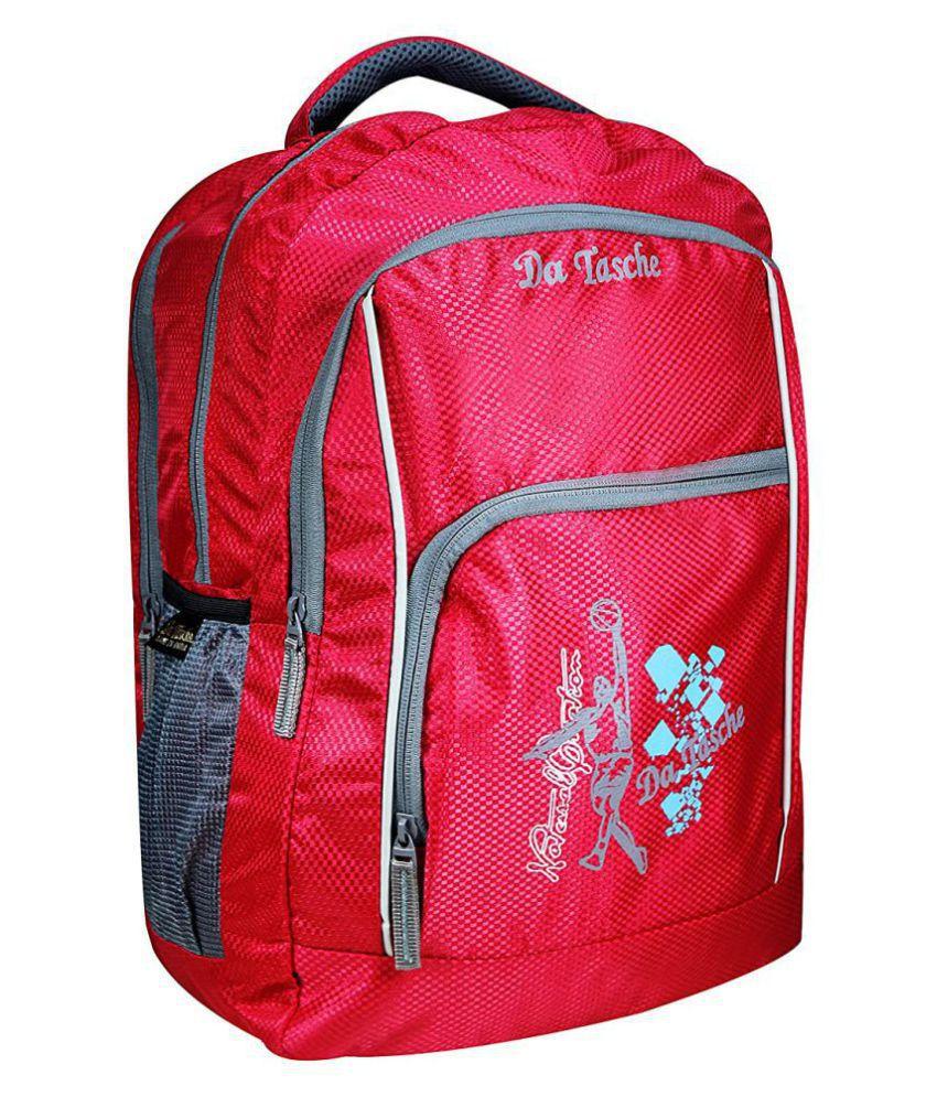 Da Tasche Red Polyester College Bag