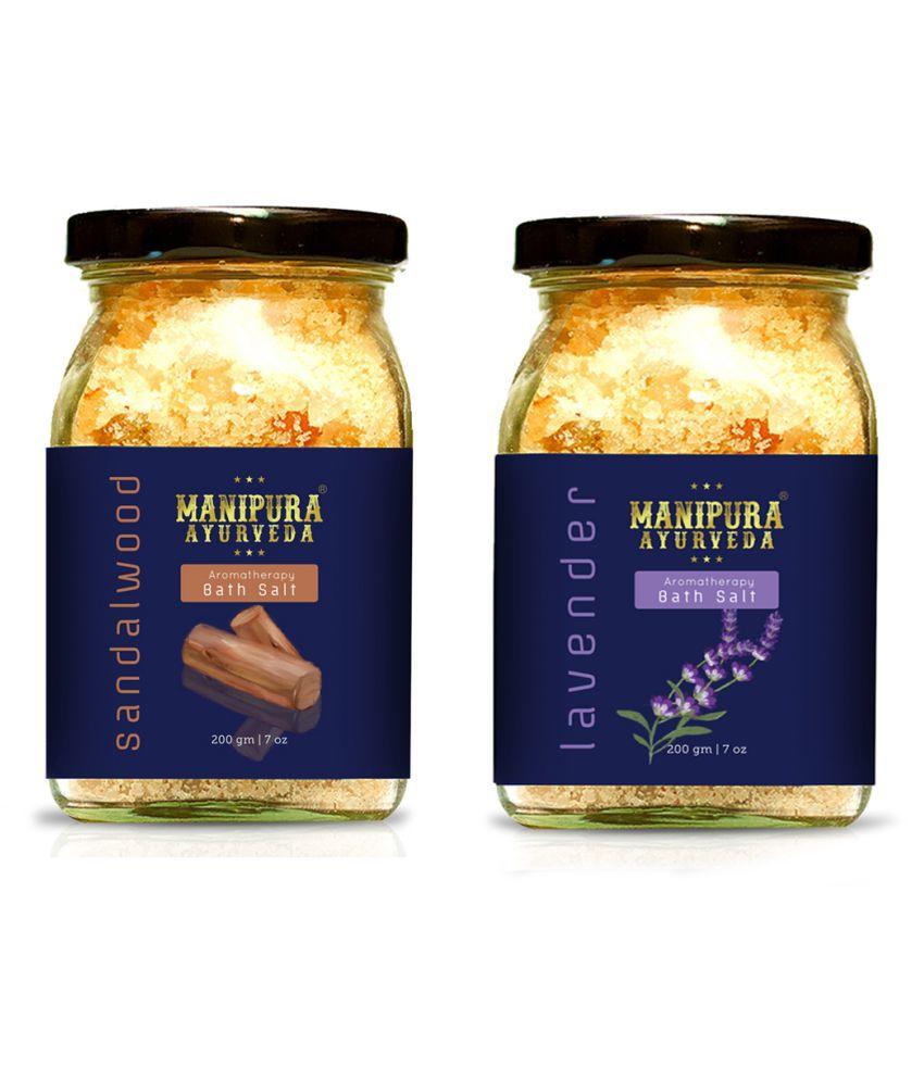 Manipura Ayurveda combo Crystal Bath Salt 200 g Pack of 2