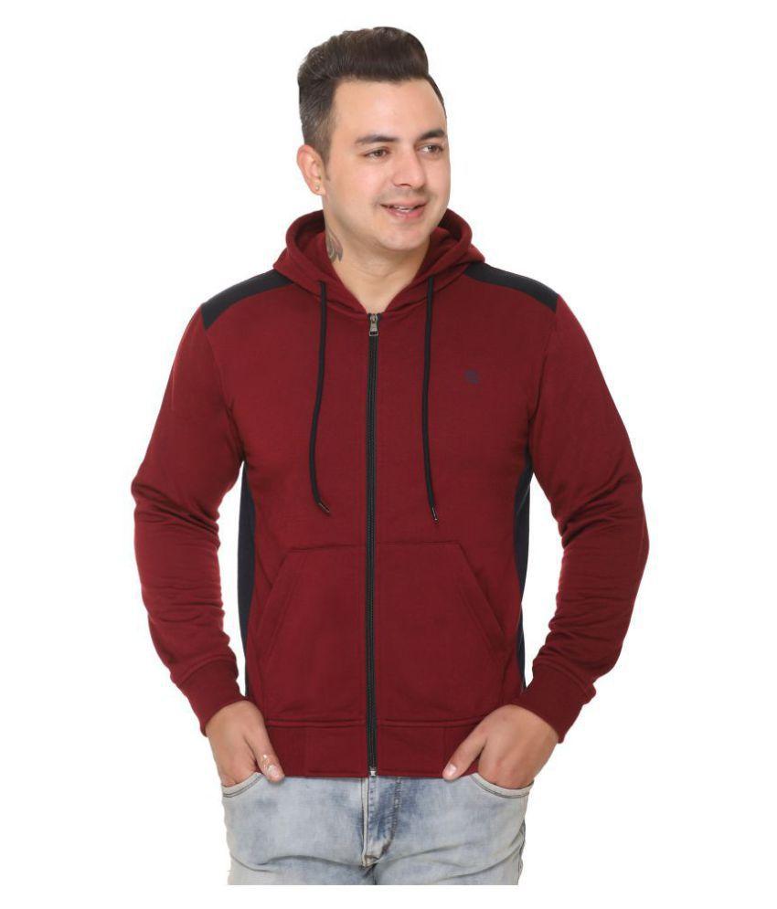 TOPLUCK Maroon Sweatshirt
