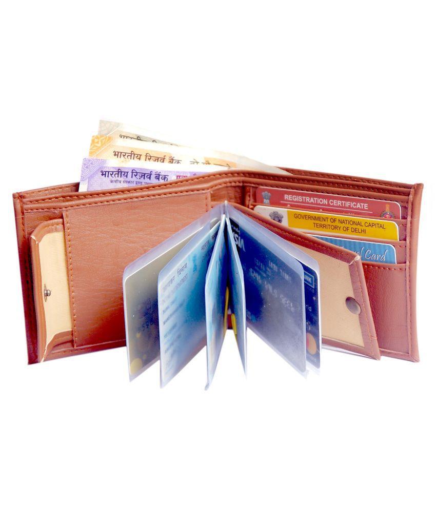 LUQXIS PU Tan Casual Regular Wallet