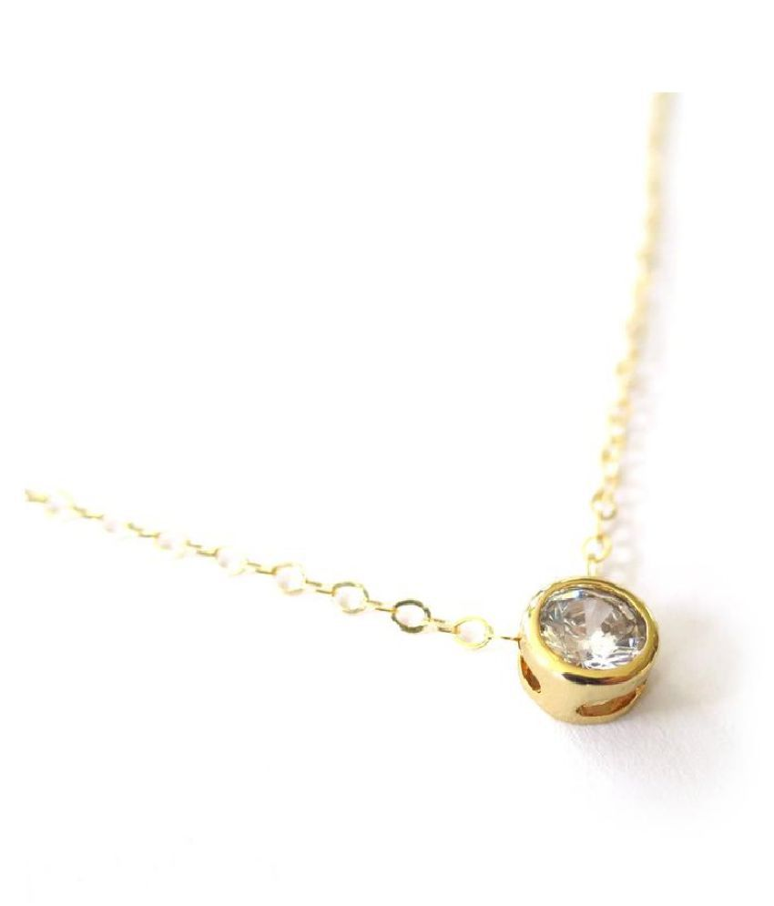 6 Ratti Zircon  Gold Plated Pendant for unisex by KUNDLI GEMS\n