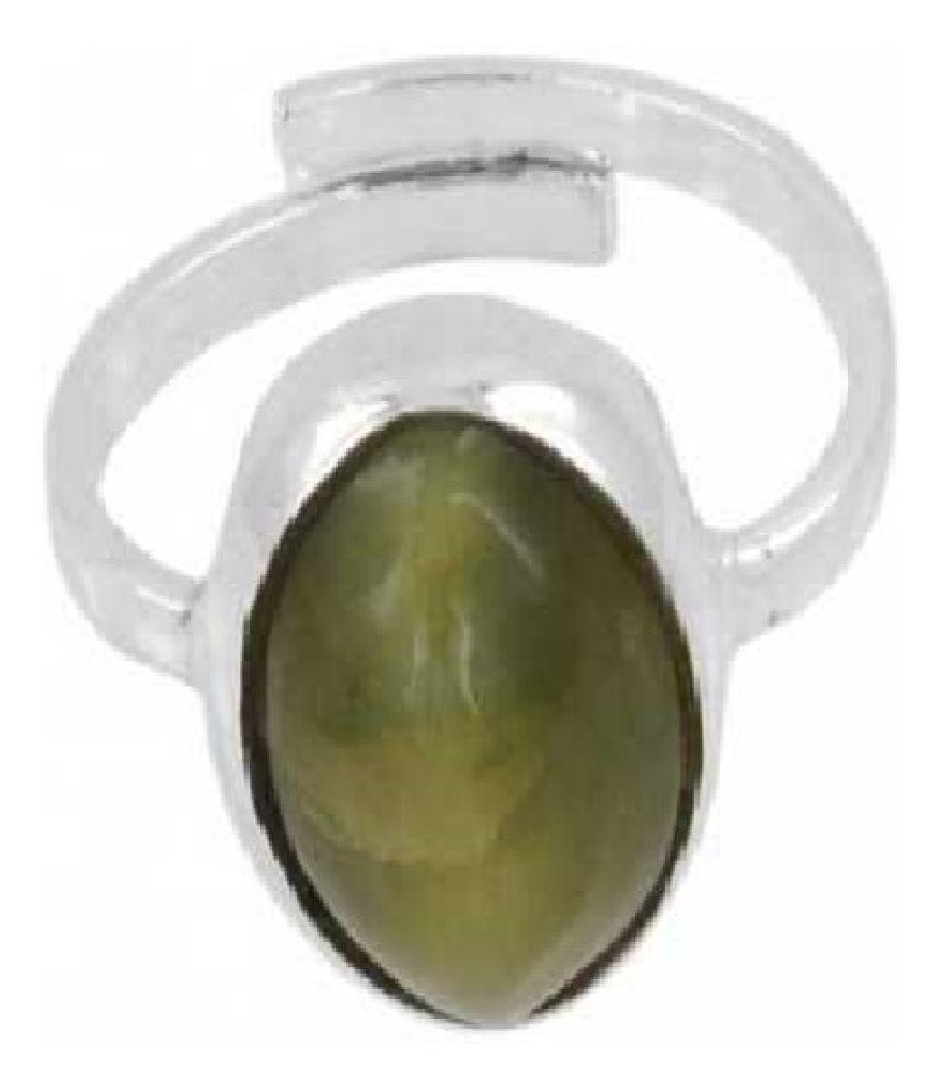 Cat's Eye Ring in 9.25 carat  Silver by  Ratan Bazaar