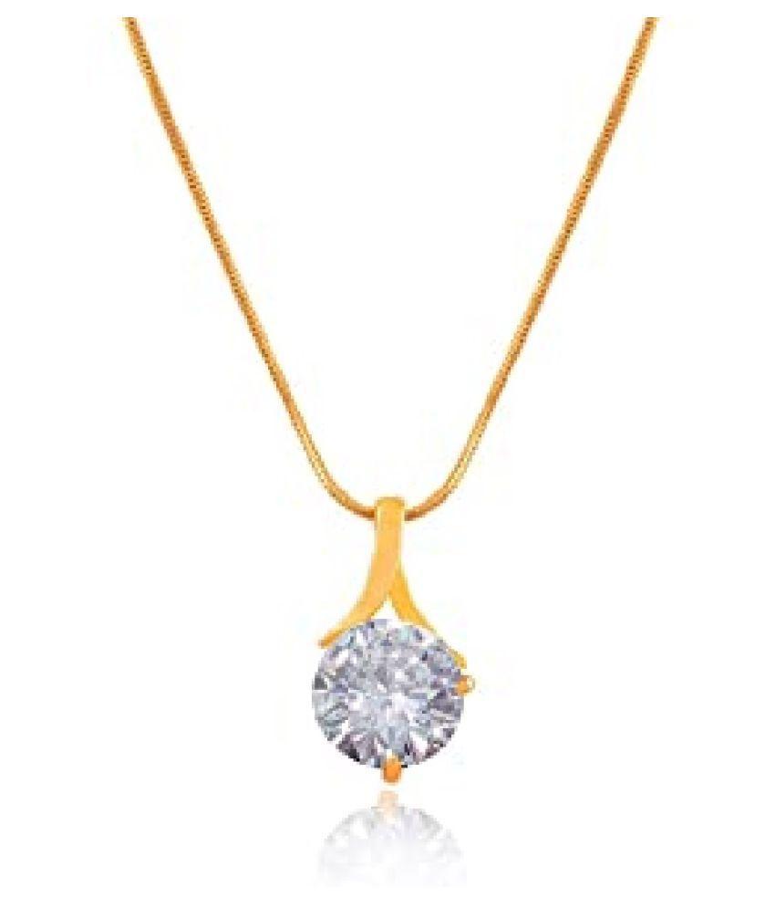 Natural 6.5 Carat Zircon  Gold Plated Pendant by  KUNDLI GEMS\n