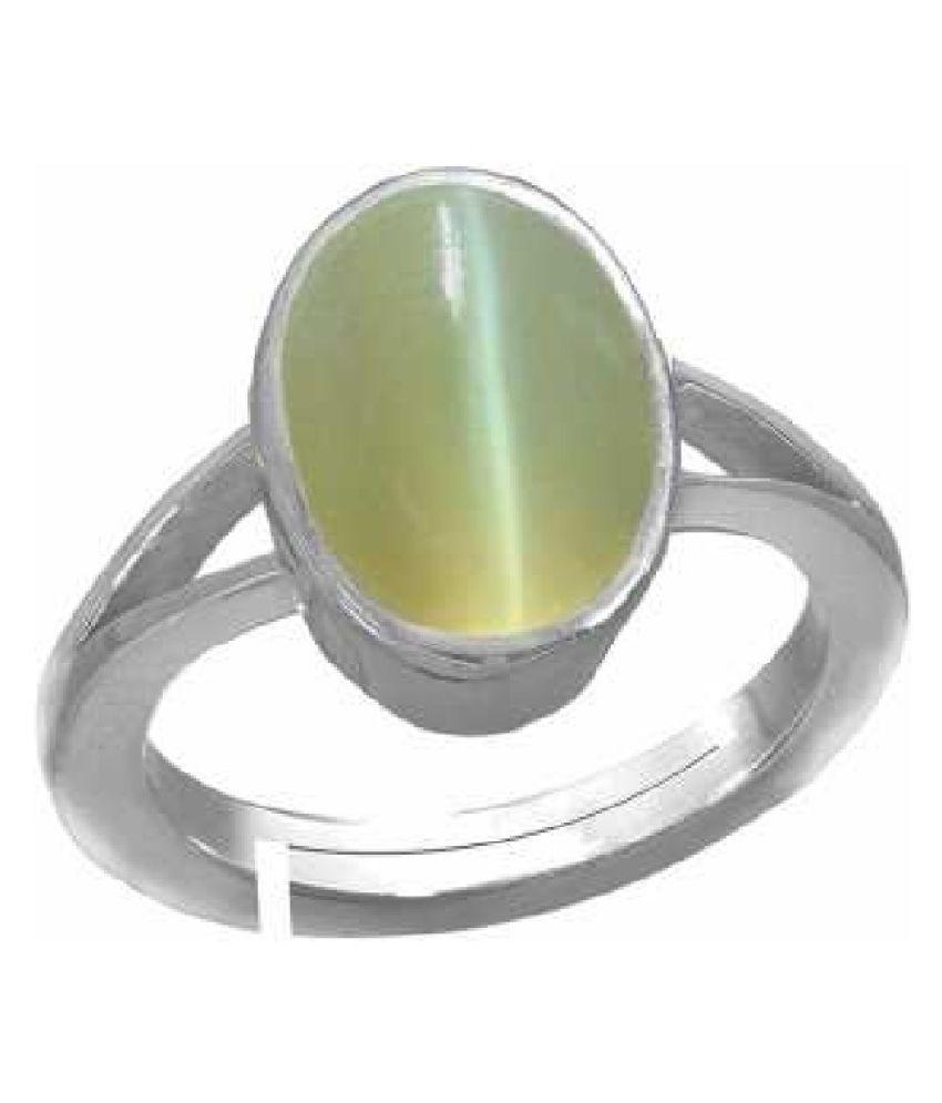 Silver Cat's Eye Stone Ring 6 carat by  KUNDLI GEMS