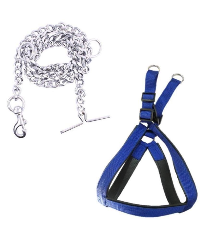 Smart Doggie Chest Belt (1.25 inches ) and Iron Chain (6 No. 5 ft. )For Your Larged Size Pet Dogs