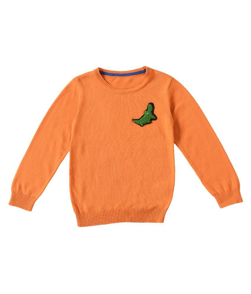 2Bme Cotton Orange Boys Sweater