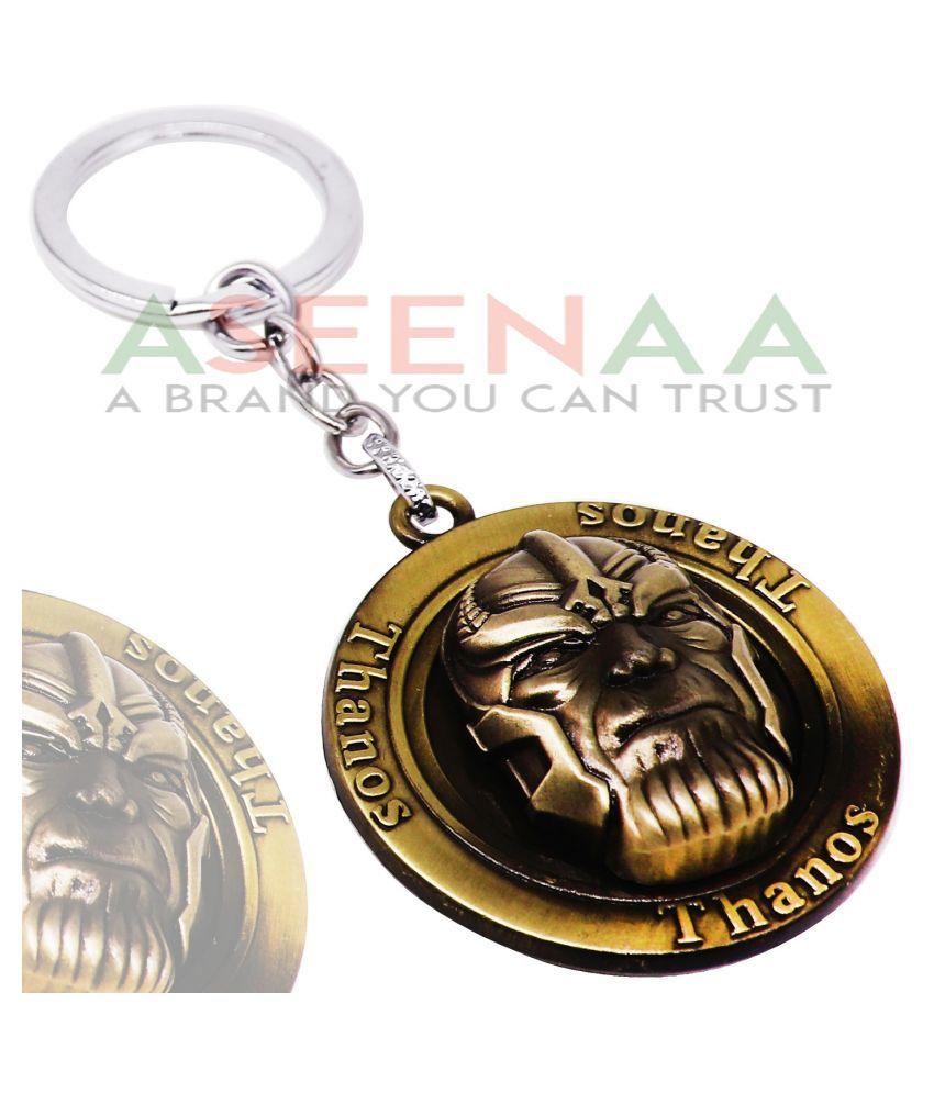 Aseenaa Metallic Keychain Single Golden