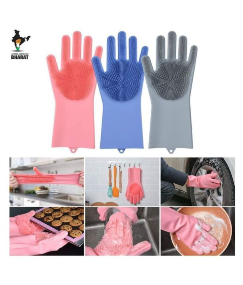 DREAMSKART Silicone Hand Glows Rubber Standard Size Cleaning Glove